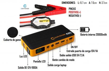 arrancador bateria portatil