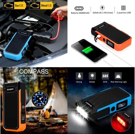 arrancador de batería de coche