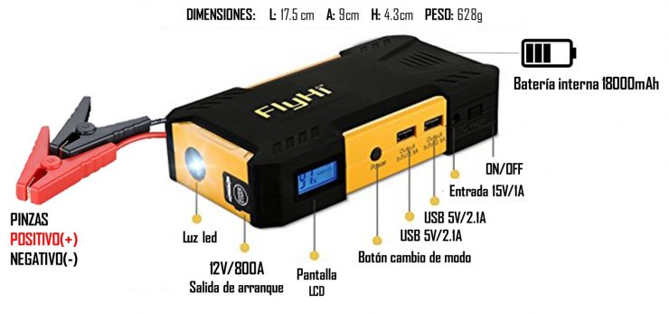arrancador de bateria portatil