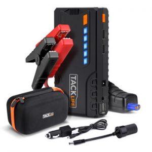 tacklife - Arrancador de Baterías Para Moto Protección Inteligente