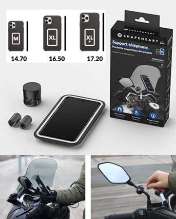 Soporte fijo de movil para espejo de moto
